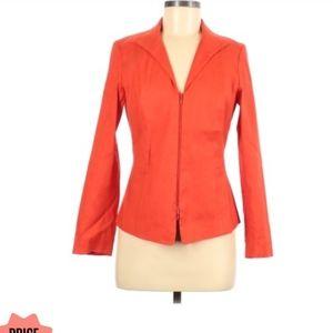 Lafayette 148 linen orange blazer